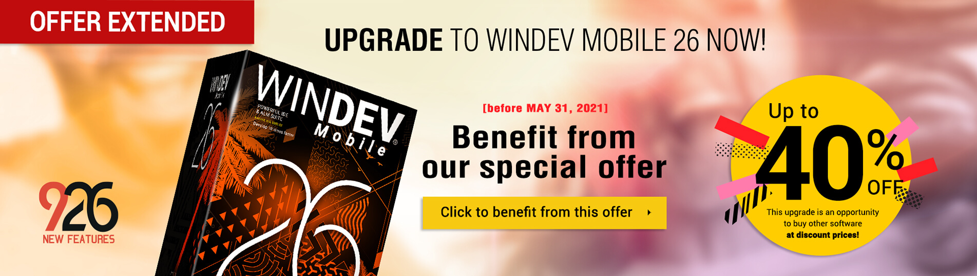 Upgrade to WINDEV Mobile 26 now!