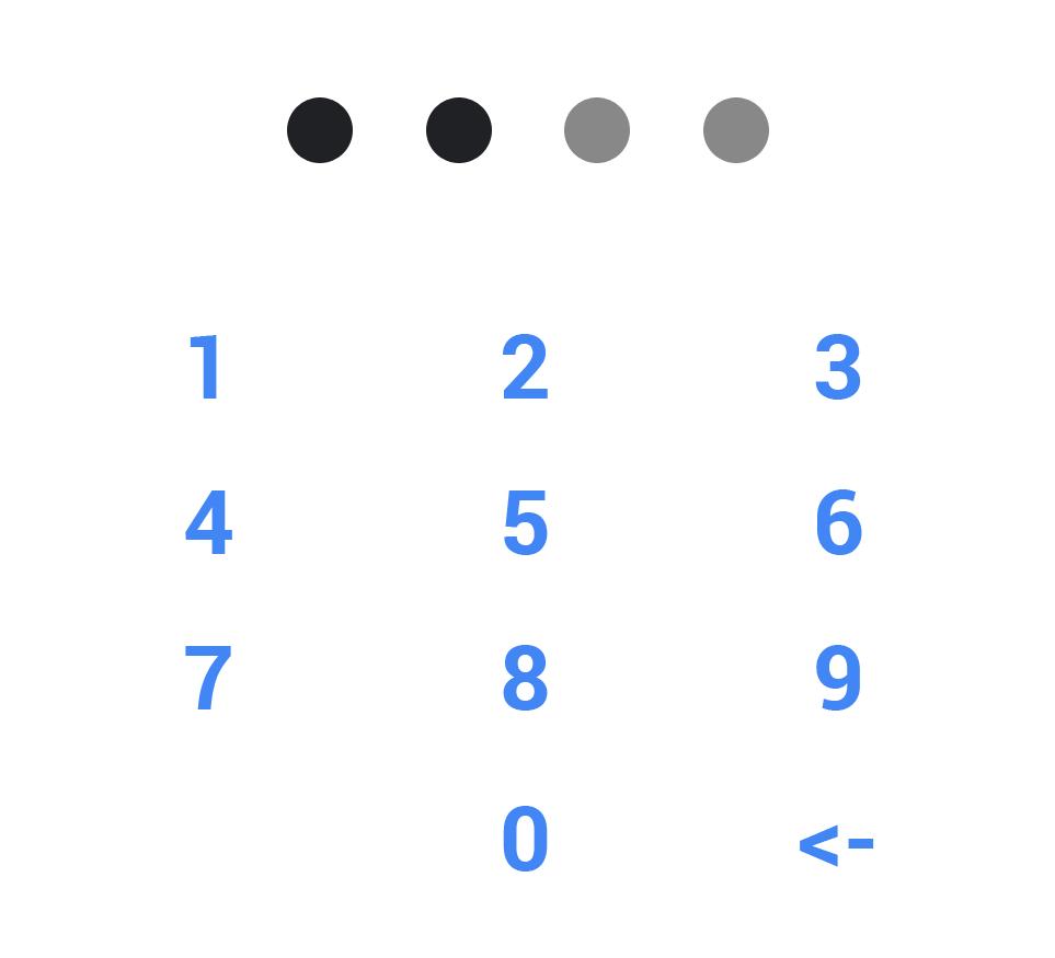 Smart control: Pin code edit