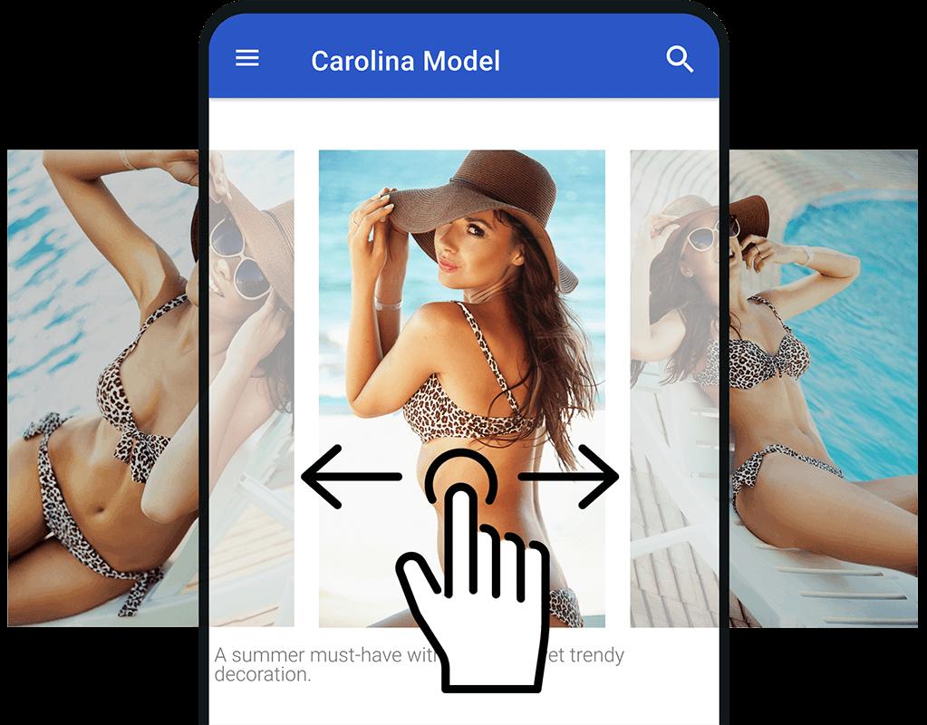 Smart control: Image swipe